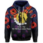 Anzac Day Zip-Hoodie We Will Remember Them