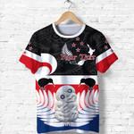 (Custom Personalised) Aotearoa Waitangi Day T Shirt Hei Tiki Fern and Flag Maori Front | New Zealand