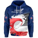 Aotearoa Waitangi Day Hoodie Maori Fern Front   New Zealand