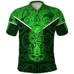 New Zealand Maori Rugby Polo Shirt Pride Version - Green K8