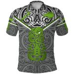 New Zealand Maori Rugby Polo Shirt Pride Version - Gray K8