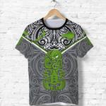 New Zealand Maori Rugby T Shirt Pride Version - Gray K8