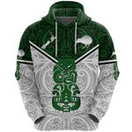 New Zealand Maori Rugby Hoodie Pride Version - White K8