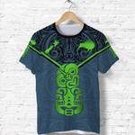 New Zealand Maori Rugby T Shirt Pride Version - Navy K8