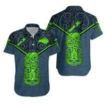New Zealand Maori Rugby Hawaiian Shirt Pride Version - Navy K8