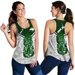 New Zealand Maori Rugby Women Racerback Tank Pride Version - White