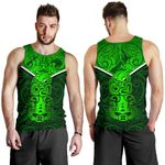 New Zealand Maori Rugby Men Tank Top Pride Version - Green