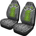 New Zealand Maori Rugby Car Seat Covers Pride Version - Gray