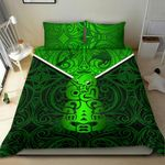 New Zealand Maori Rugby Bedding Set Pride Version - Green