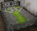 New Zealand Maori Rugby Quilt Bed Set Pride Version - Gray