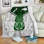 New Zealand Maori Rugby Premium Blanket Pride Version - White