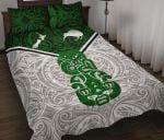 New Zealand Maori Rugby Quilt Bed Set Pride Version - White