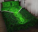 New Zealand Maori Rugby Quilt Bed Set Pride Version - Green