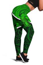 New Zealand Maori Rugby Women Leggings Pride Version - Green