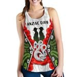 Anzac Day Women's Racerback Tank, New Zealand Lest We Forget | Love New Zealand