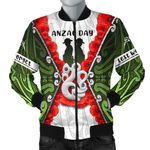 Anzac Day Men's Bomber Jacket, New Zealand Lest We Forget | Love New Zealand