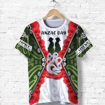 Anzac Day T Shirt, New Zealand Lest We Forget TH12