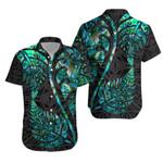 Aotearoa Maori Hawaiian Shirt Silver Fern Koru Vibes K36