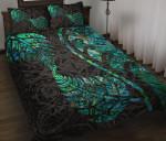 Aotearoa Maori Quilt Bed Set Silver Fern Koru Vibes