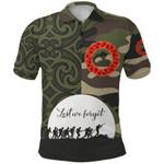 Anzac Maori Polo Shirt Camo Lest For Get K36