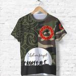 Anzac Maori T Shirt Camo Lest For Get K36
