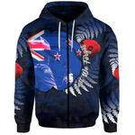 New Zealand Zip-Hoodie Anzac Day Army Patterns
