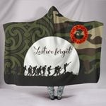 Anzac Maori Hooded Blanket Camo Lest For Get