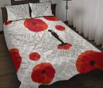 Anzac Maori Quilt Bed Set Silver Fern Lest For Get