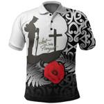 New Zealand Polo Shirt Anzac Day Maori Patterns