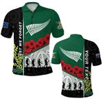 (Custom Personalised) Anzac Day - Lest We Forget Polo Shirt Australia Indigenous and New Zealand Maori   1st New Zealand