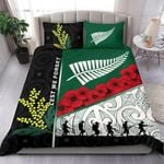 Anzac Day - Lest We Forget Bedding Set Australia Indigenous and New Zealand Maori | 1st New Zealand
