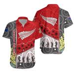 Anzac Day - Lest We Forget Hawaiian Shirt Australia Indigenous and New Zealand Maori - Red | 1st New Zealand