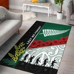 Anzac Day - Lest We Forget Area Rug Australia Indigenous and New Zealand Maori | 1st New Zealand