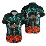 Anzac Day Lest We Forget Poppy Hawaiian Shirt New Zealand Maori Vibes - Paua Shell K8