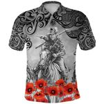 Anzac Day Lest We Forget Poppy Polo Shirt New Zealand Maori Horse Riding K8