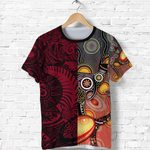New Zealand Maori And Australia Aboriginal Rugby T Shirt We Are Family - Red
