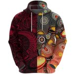 New Zealand Maori And Australia Aboriginal Rugby Hoodie We Are Family - Red