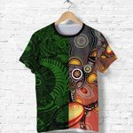 New Zealand Maori And Australia Aboriginal Rugby T Shirt We Are Family - Green