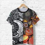 New Zealand Maori And Australia Aboriginal Rugby T Shirt We Are Family - Black