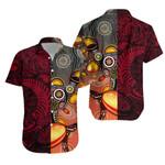 New Zealand Maori And Australia Aboriginal Rugby Hawaiian Shirt We Are Family - Red
