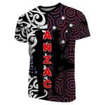 New Zealand T-Shirt Anzac Day Maori Mix Aboriginal