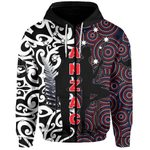 New Zealand Zip-Hoodie Anzac Day Maori Mix Aboriginal