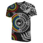 Aotearoa and Australia T Shirt Fern Maori vs Aboriginal TH6