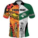 (Custom Personalised) Australian and New Zealand Anzac Polo Shirt Camouflage Indigenous K13