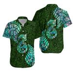 Aotearoa Maori Hawaiian Shirt Silver Fern Manaia Vibes - Green K36