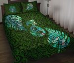 Aotearoa Maori Quilt Bed Set Silver Fern Manaia Vibes - Green