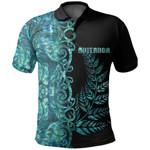 (Custom Personalised)Aotearoa Fern Polo Shirt Half Papua Shell Style