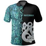 (Custom Personalised)Aotearoa Maori Manaia Polo Shirt Half Papua Shell Style No.1