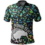 (Custom Personalised) Aotearoa Polo Shirt Papua Shell Kiwi Bird