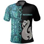 (Custom Personalised)Aotearoa Maori Manaia Polo Shirt Half Papua Shell Style No.2